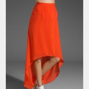 Lovers & Friends Hi Low Pretty Hearts Coral Skirt